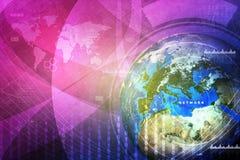 Erdkugel mit Weltkarte Lizenzfreie Stockfotografie