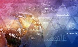 Erdkugel mit Weltkarte Lizenzfreie Stockbilder