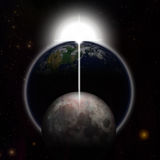 Erdmond-Planetenstern Stockbild