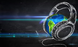 Erdmusik-Tafel-Hintergrund stock abbildung