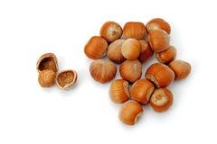 Erdnüsse auf lokalisiertem weißem Hintergrund stockfoto