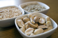 Erdnüsse in der Schale Lizenzfreies Stockfoto