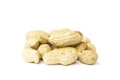 Erdnüsse lokalisiert auf weißem Hintergrund Lizenzfreie Stockfotografie