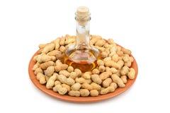 Erdnüsse und Erdnussbutter Lizenzfreies Stockbild