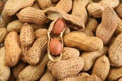Erdnuss-Hintergrund Stockbild