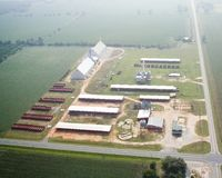 Erdnuss-Lager in Allentown, Florida Lizenzfreies Stockfoto