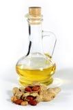 Erdnuss, Muttern und Schmieröl Lizenzfreie Stockfotografie