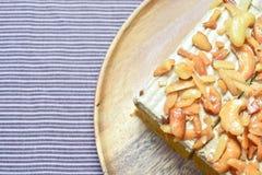 Erdnuss und Acajounusskuchen Stockfotos