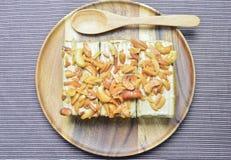 Erdnuss und Acajounusskuchen Stockfotografie
