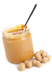 Erdnussbutter stockfotografie