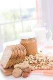 Erdnussbutter stockbilder