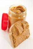 Erdnussbutter auf Brot lizenzfreie stockfotografie