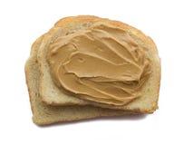 Erdnussbutter auf Toast Stockbild