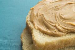 Erdnussbutter auf Toast Lizenzfreies Stockfoto