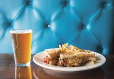 Erdnussbutter-Club Sandwich Lizenzfreies Stockfoto