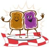 Erdnussbutter-Gelee-Sandwich Lizenzfreies Stockfoto