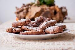 Erdnussbutter Plätzchen und Nutella Stockfoto