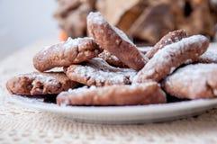 Erdnussbutter Plätzchen und Nutella Stockbild