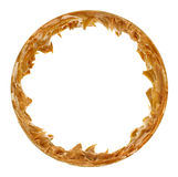Erdnussbutter-runder Bilderrahmen Stockbilder