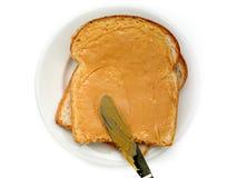 Erdnussbutter-Sandwich stockfotografie