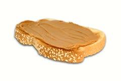 Erdnussbutter-Toast lizenzfreie stockfotos