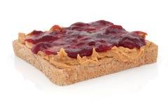 Erdnussbutter und Gelee-Sandwich Stockfotografie
