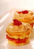Erdnussbutter- und Geleekleine kuchen lizenzfreies stockfoto