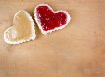 Erdnussbutter und Geleesandwich Stockfoto