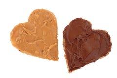 Erdnussbutter und Schokoladen-Imbiß lizenzfreie stockfotografie