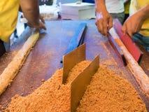 Erdnusssnack handgemacht im vegetarischen Festival in Bangkok Thailand Stockfotos