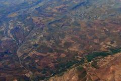 Erdoberfläche Bunte Felder Lizenzfreies Stockbild