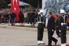 erdogan部长最初recep tayyip火鸡 免版税库存照片