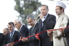 erdogan部长最初recep tayyip 免版税图库摄影