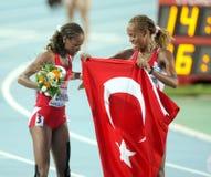 Erdogan and Bekele of Turkey Royalty Free Stock Photos