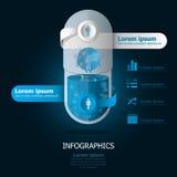 Erdpillen-Kapsel-Design Lizenzfreie Stockbilder