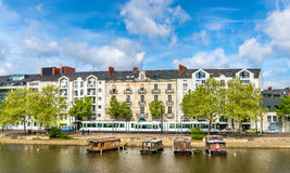 The Erdre River in Nantes, France. The Erdre River in Nantes - France, Loire-Atlantique Stock Image
