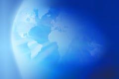 Erdweltkarte-Kugel-Hintergrund lizenzfreie stockfotografie