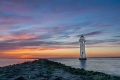 Żerdzi Rockowa latarnia morska Nowy Brighton Fotografia Stock