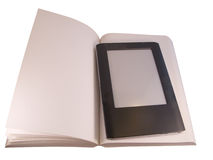 Ereader on book Stock Images