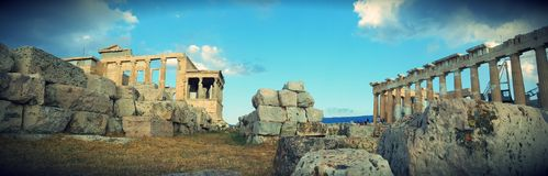 Erechteion, acrópole, Atenas, Grécia Imagens de Stock Royalty Free