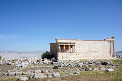 Erechteion on acropolis, Athens, Greece Royalty Free Stock Photo