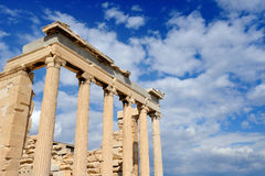 Erechteion at Acropolis. Erechteion temple at Acropolis in Athens, Greece Stock Photos