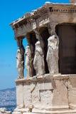 erechteion greece för acropolisathens caryatids Arkivbild