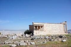Erechteion på akropolen, Aten, Grekland Royaltyfri Foto