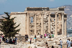 Erechteion Temple Acropolis Athens Greece Stock Photos