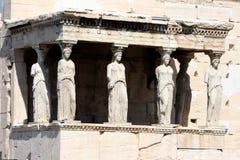 Erechteum Atenas greece imagem de stock