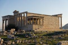 Erechteumtempel, Akropolis, Athene, Griekenland Stock Foto's
