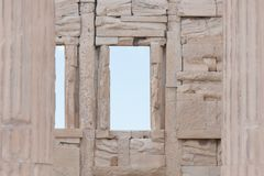 Erechtheion à l'Acropole à Athènes - en Grèce image stock