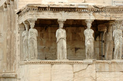 Erechtheion. Part of Acropolis in Athens stock photo