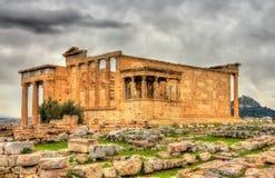 Erechtheion,一个古希腊寺庙 库存图片